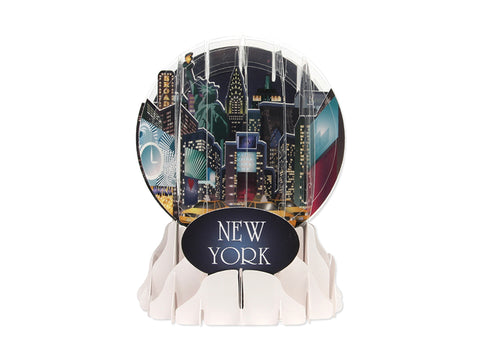 New York Snowglobe Pop Up Card