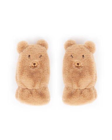 Kids Fluffy Teddy Mittens