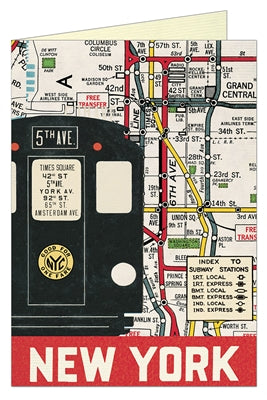NY Subway Greeting Card (Blank)