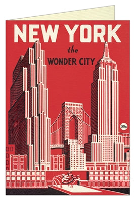 Notecard: New York The Wonder City (red)