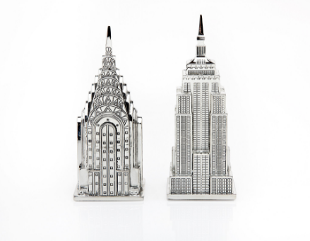 Silver Skyscraper Salt & Pepper Set