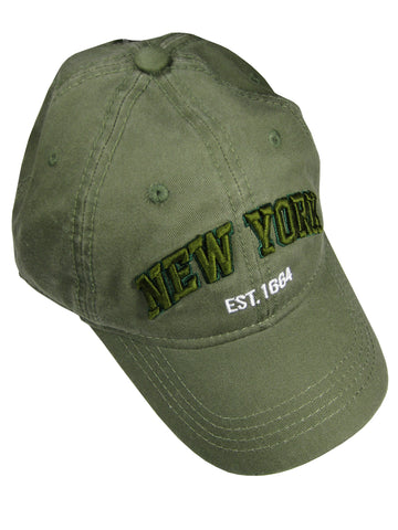 Embroidered New York Cap