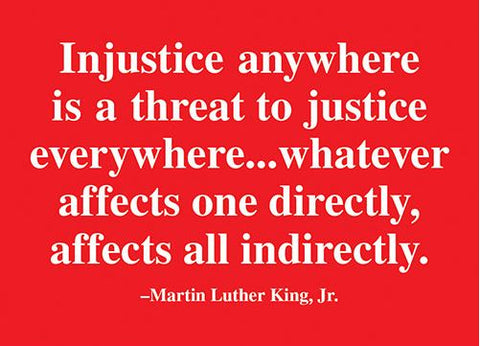 "MLK ""Injustice"" Quote Magnet"