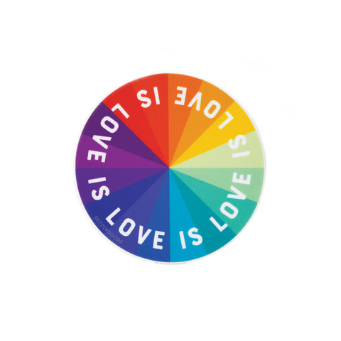 Sticker: Love Color Wheel