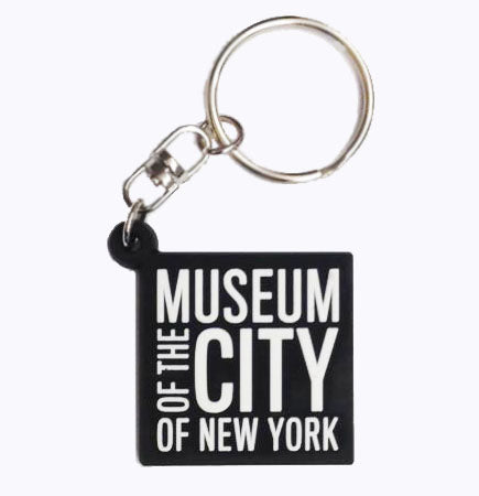 The Museum of the City of New York black square logo on a keychain.