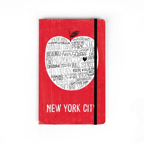 Red Big Apple Notebook