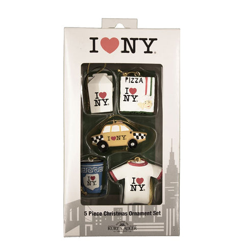 I Love NY 3D Mini Ornament Set