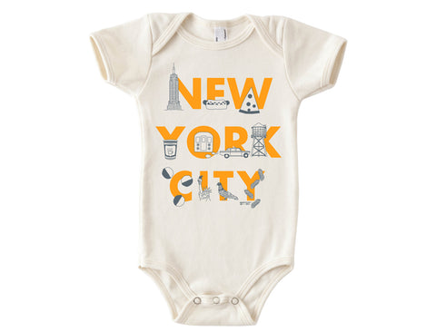NYC Yellow Baby Onesie