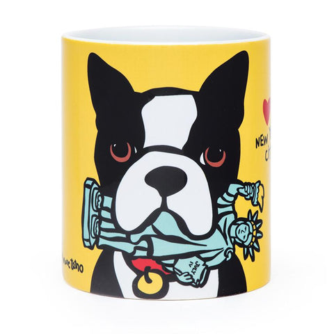 Boston Terrier Statue of Liberty Mug