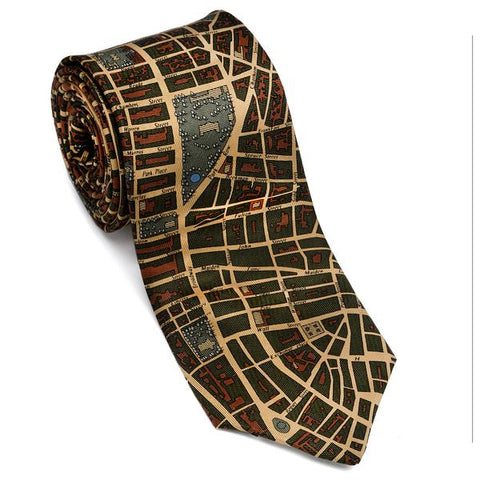 Tie: NYC Olive/Gold