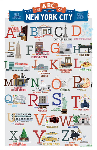 ABCs of NYC 18x24