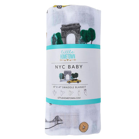 NYC Baby Swaddle Blanket