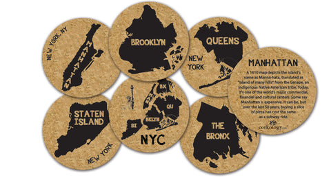 Coaster Set NYC Boros