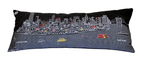 New York Night Queen Pillow