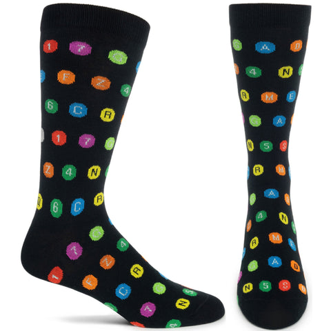 Sock MTA Subway Dots Mens