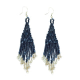 Small Metallic Fringe Earring