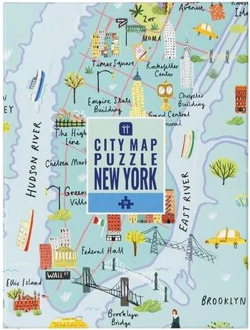 250 Piece Puzzle Map NYC