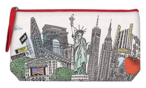 Skyline Liberty Red Zip Pouch