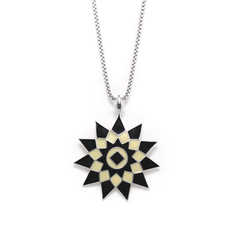 Sunburst Disc Star Pendant