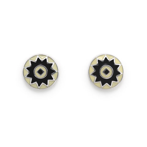 Small Sunburst Stud Earrings