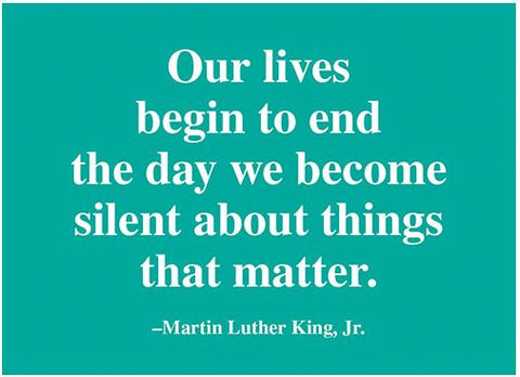 "MLK ""Lives"" Quote Magnet"