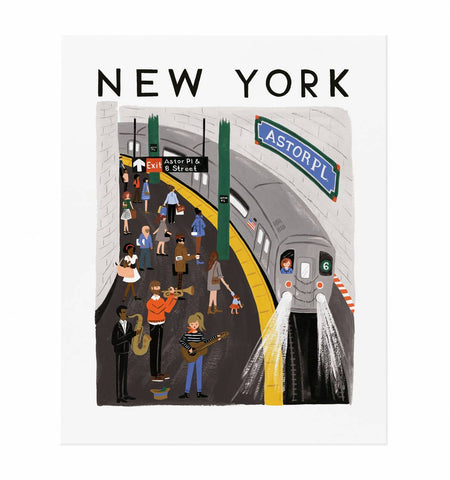 New York World Traveler Print