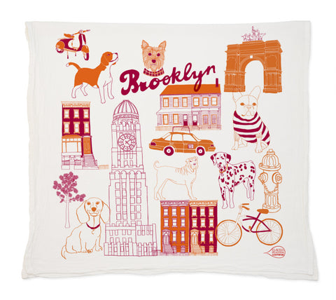 Brooklyn Dogs Tea Towel