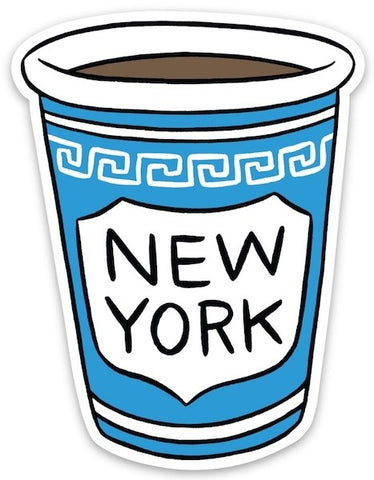 Sticker: NY Coffee Cup