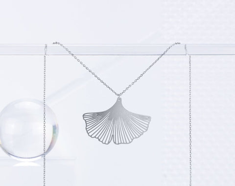 Gingko Necklace Silver