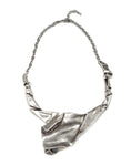 Pewter Crumple Paper Collar