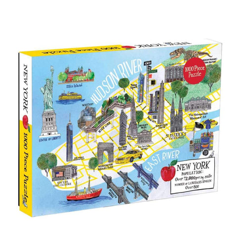City Map 1000 Piece New York Puzzle