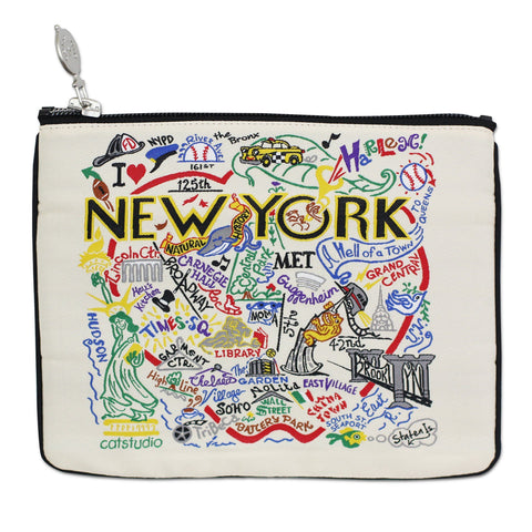 New York City Woven Pouch