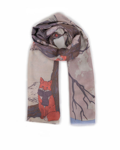 Winter Chums Print Scarf