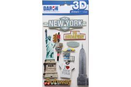 3D STICKER SET-NEW YORK CITY