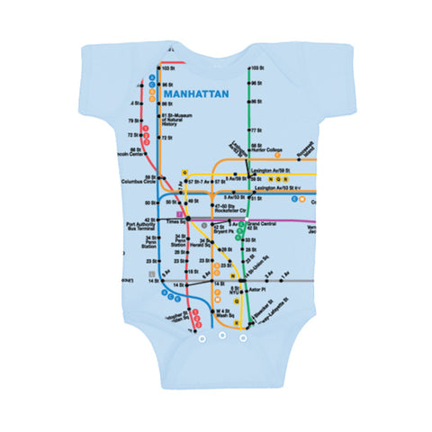 Manhattan Map Onesie