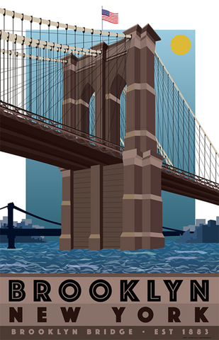 Brooklyn Bridge Print 11x17