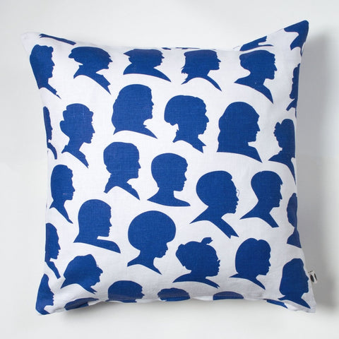 Pillow Cover: Blue Radical Women