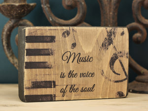 Small Wooden Sign - Voice of the soul