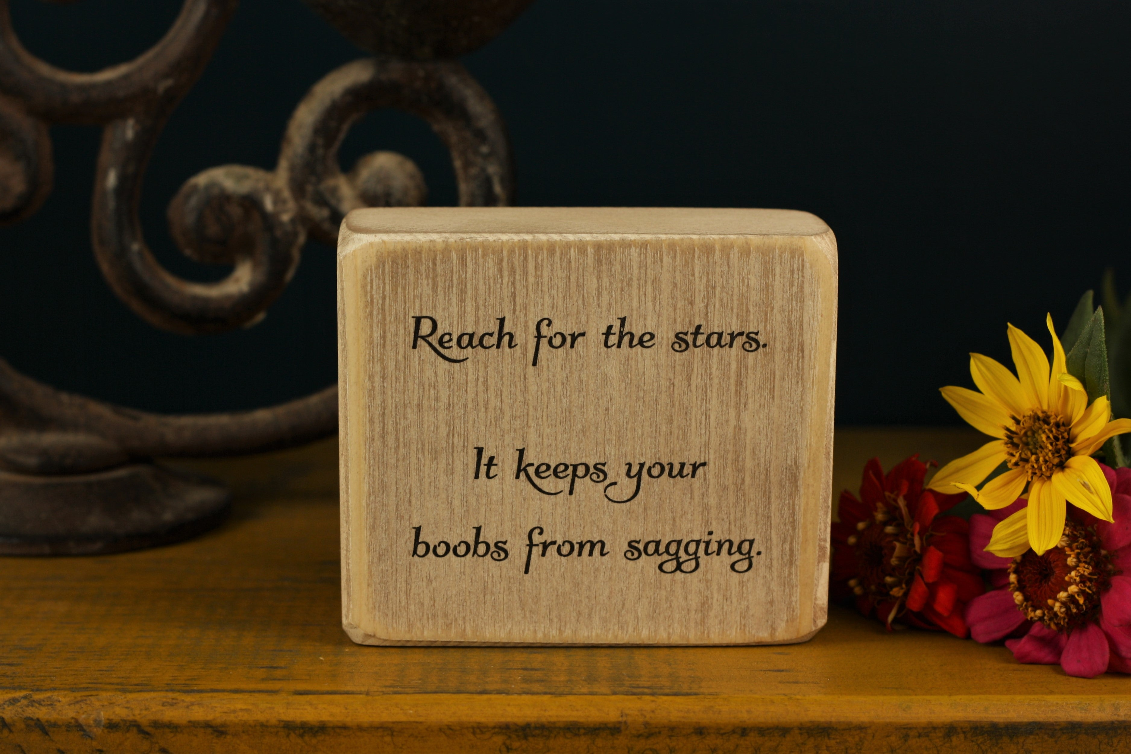 Small Wooden Sign - Reach for the stars
