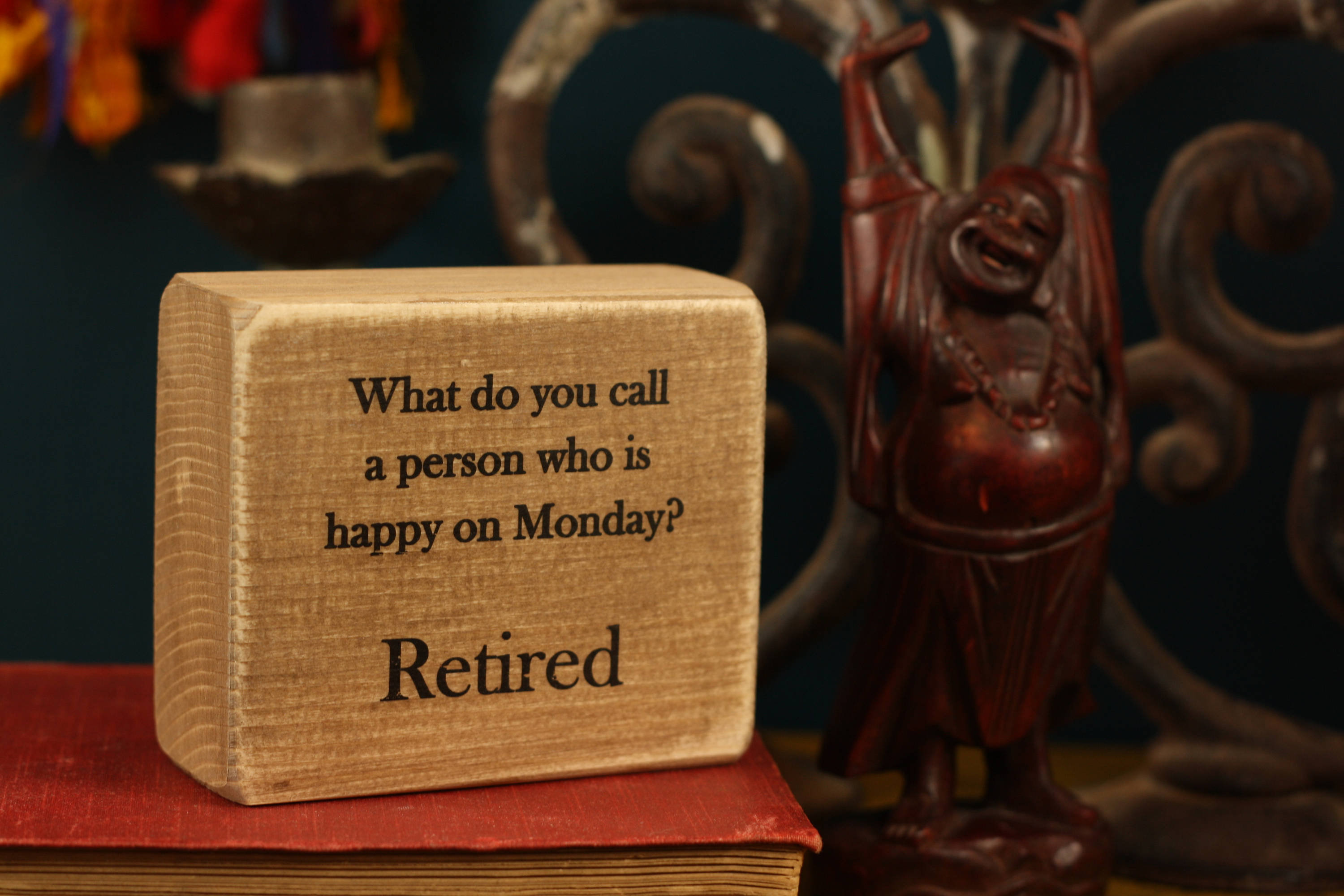 Small Wooden Sign - Happy on Monday