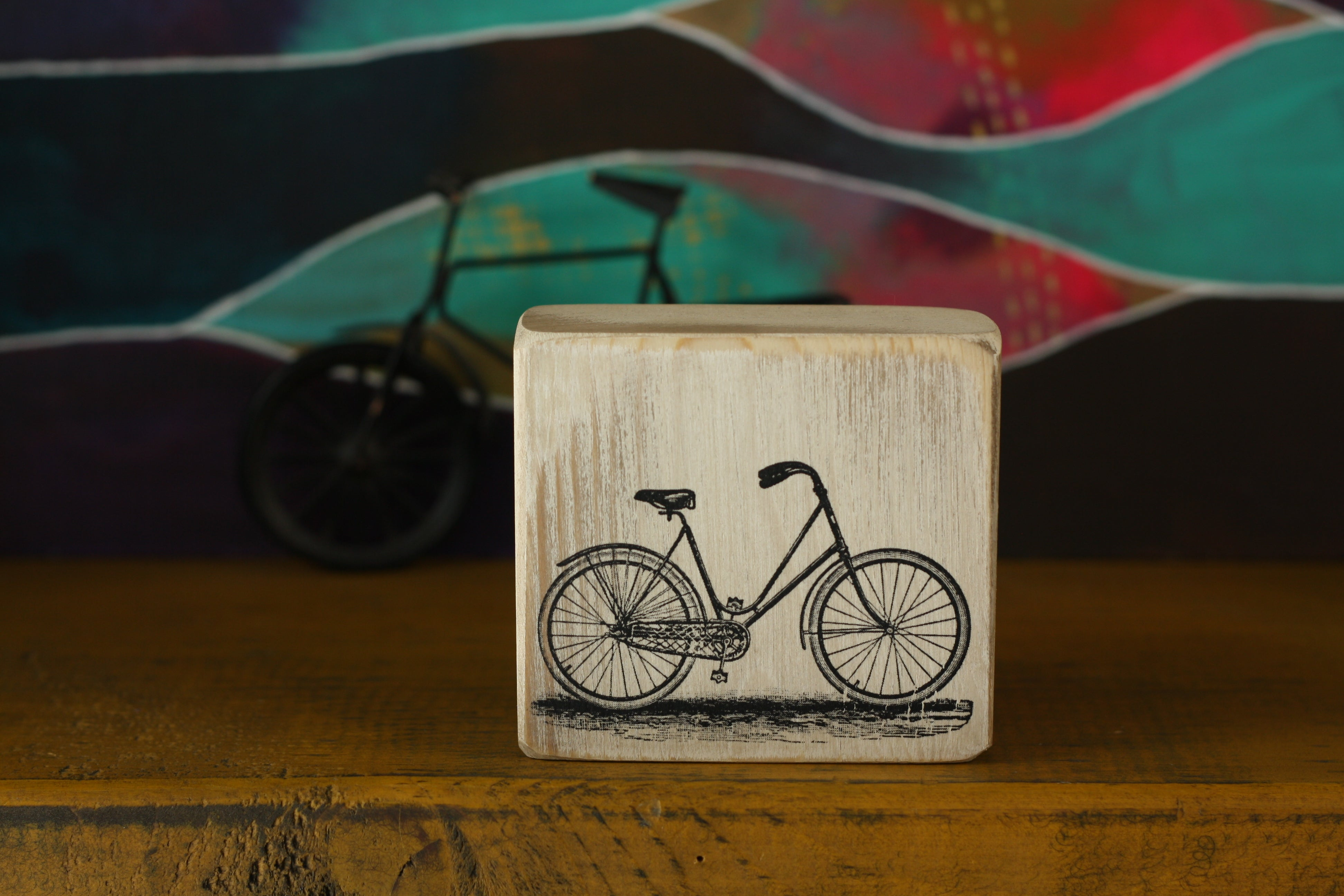 Small Wooden Sign - Bicycle