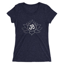 Lotus Flower w/ Ohm Symbol Ladies' short sleeve Bella+Canvas t-shirt