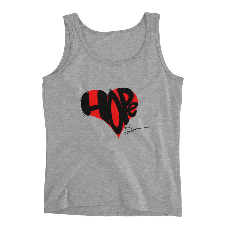 Keep Hope in Your Heart Design Ladies' Tank