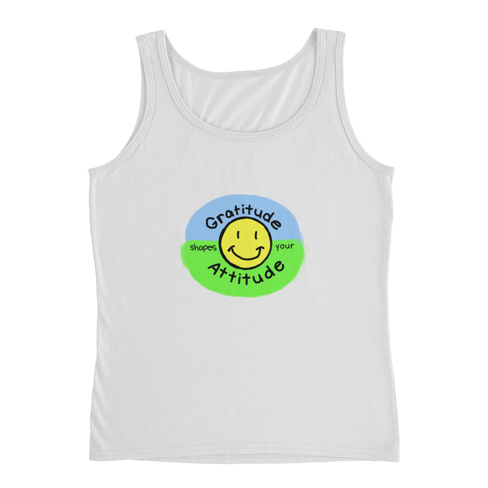 Gratitude Shapes Your Attitude Ladies' Tank
