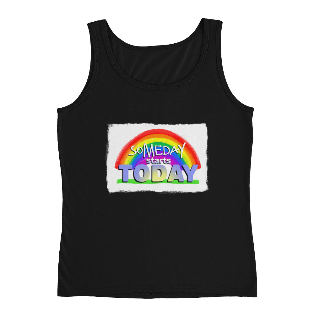 Rainbow Design. Someday Starts Today. Ladies' Tank