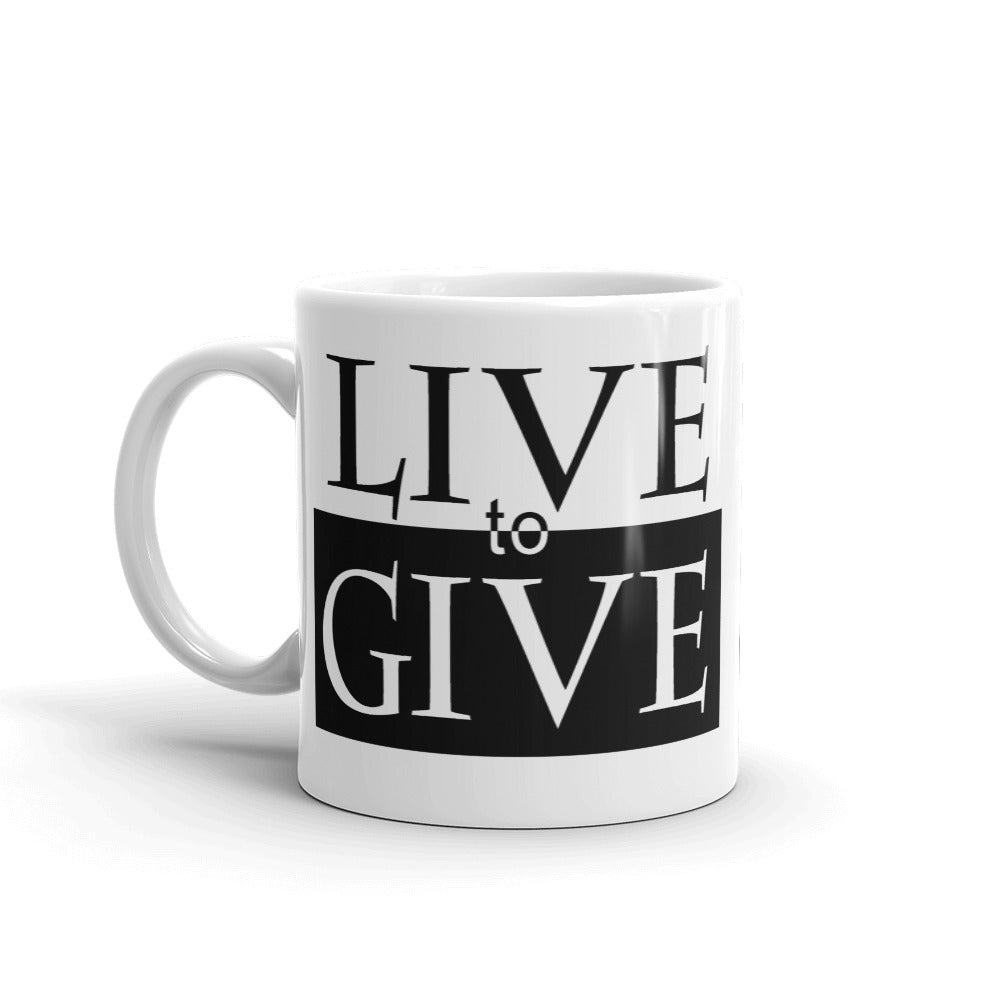 Live to Give coffee mug