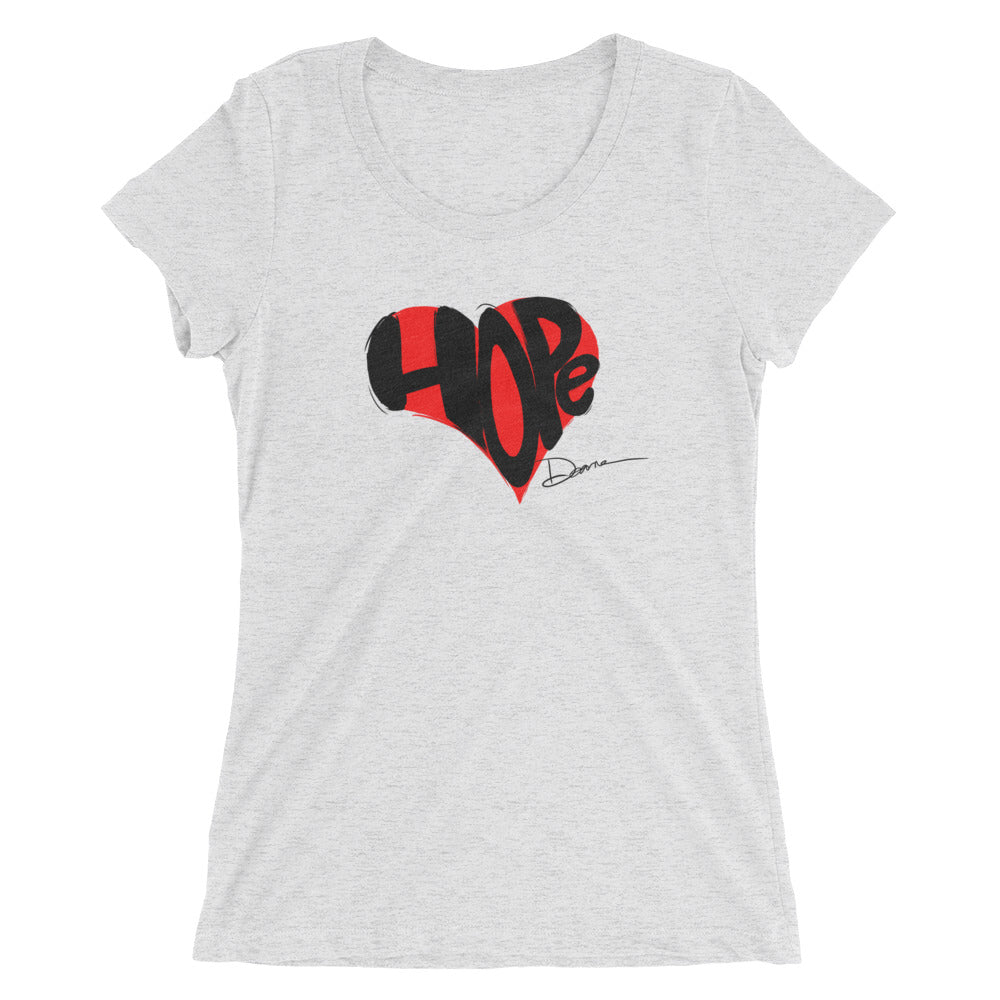 Hope in Your Heart Ladies' short sleeve Bella+Canvas t-shirt