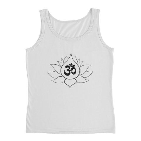 Lotus Flower w/ Ohm Symbol Ladies' short sleeve t-shirt