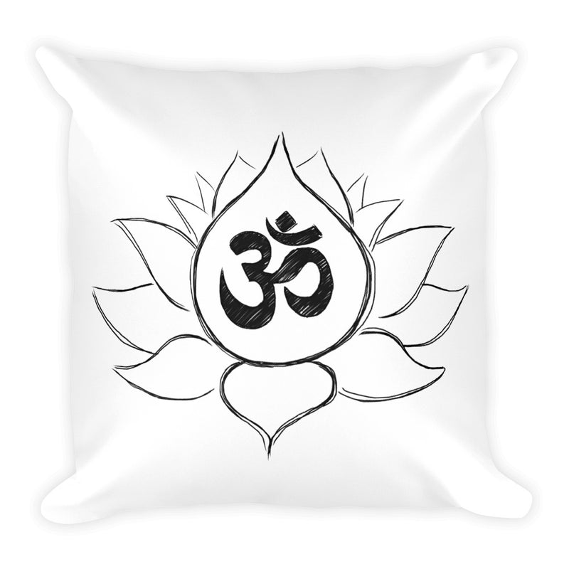 Lotus Flower with Ohm Symbol (Square Pillow)