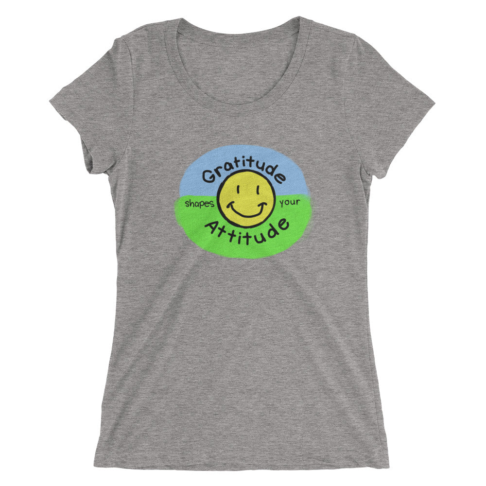 Gratitude Shapes Your Attitude ladies' short sleeve t-shirt